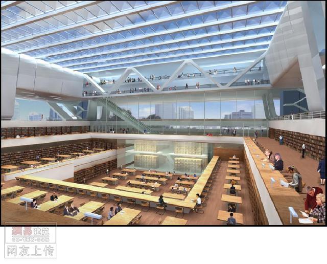 内部效果  -中国国家图书馆新馆建筑设计方案