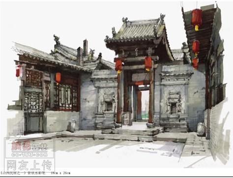 中国古建筑效果图_中国古建筑东海神殿效果图3D模型下载3D模