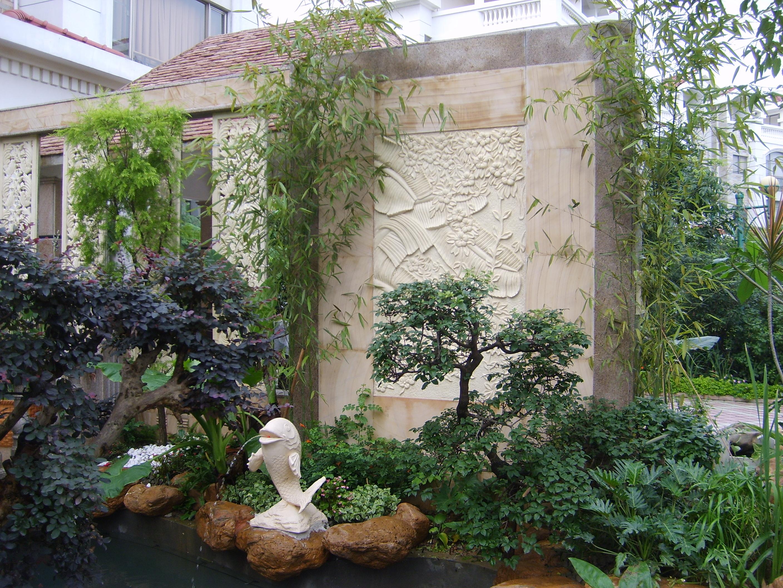 园林绿化 园林景观实景 刚完工的一个小花园(顺德碧桂园)
