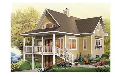 单层建筑平面图 单层厂房平面图 单层别墅平面图 效果图