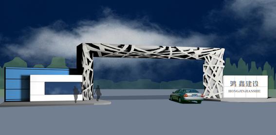 钢结构企业大门