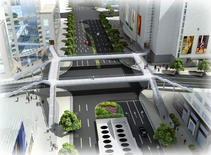 道路桥梁景观方案设计及表现—上海瀚章