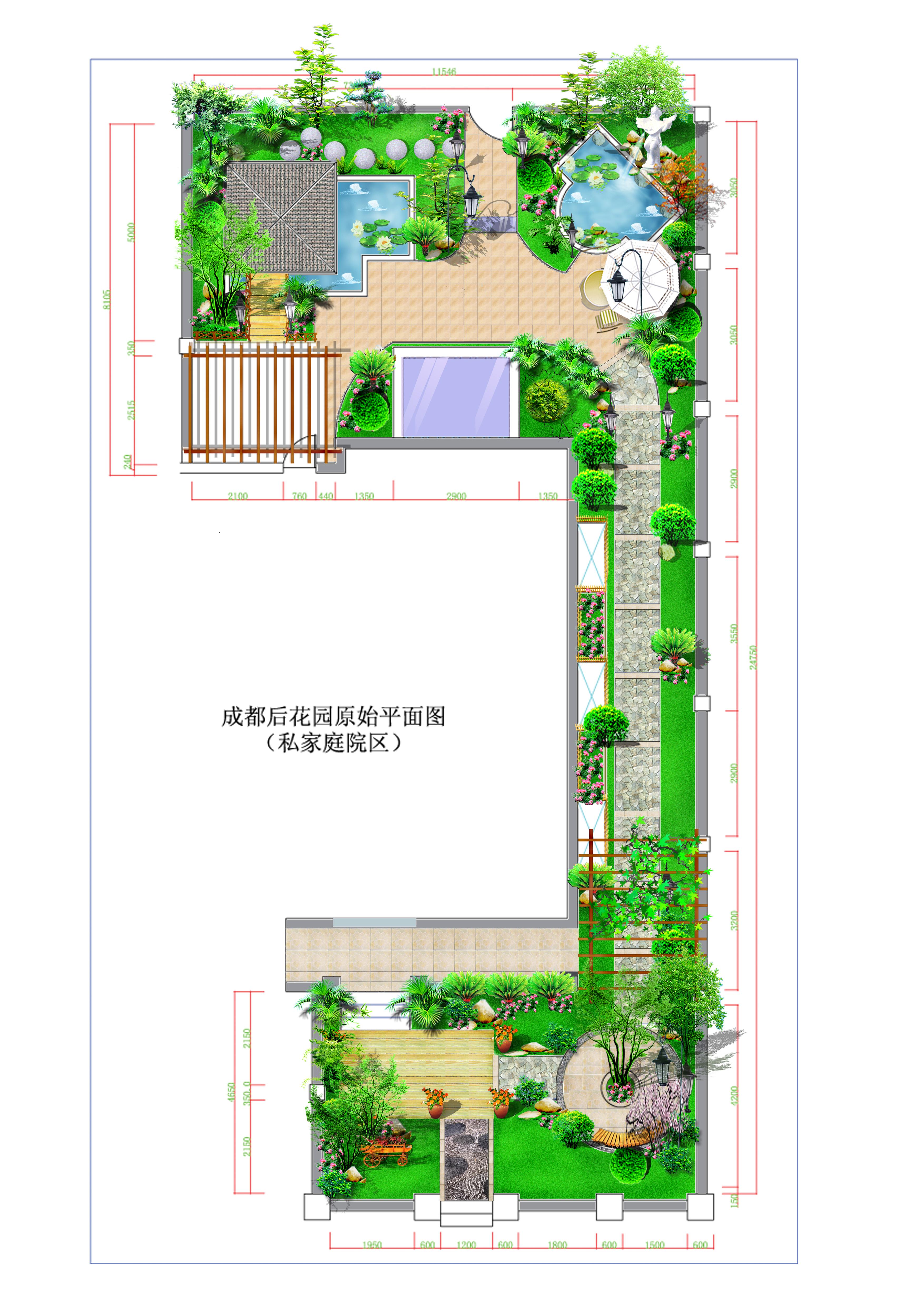嘉興皇家花園別墅建筑規劃及景觀設計 景觀規劃設計 成都后花園別墅