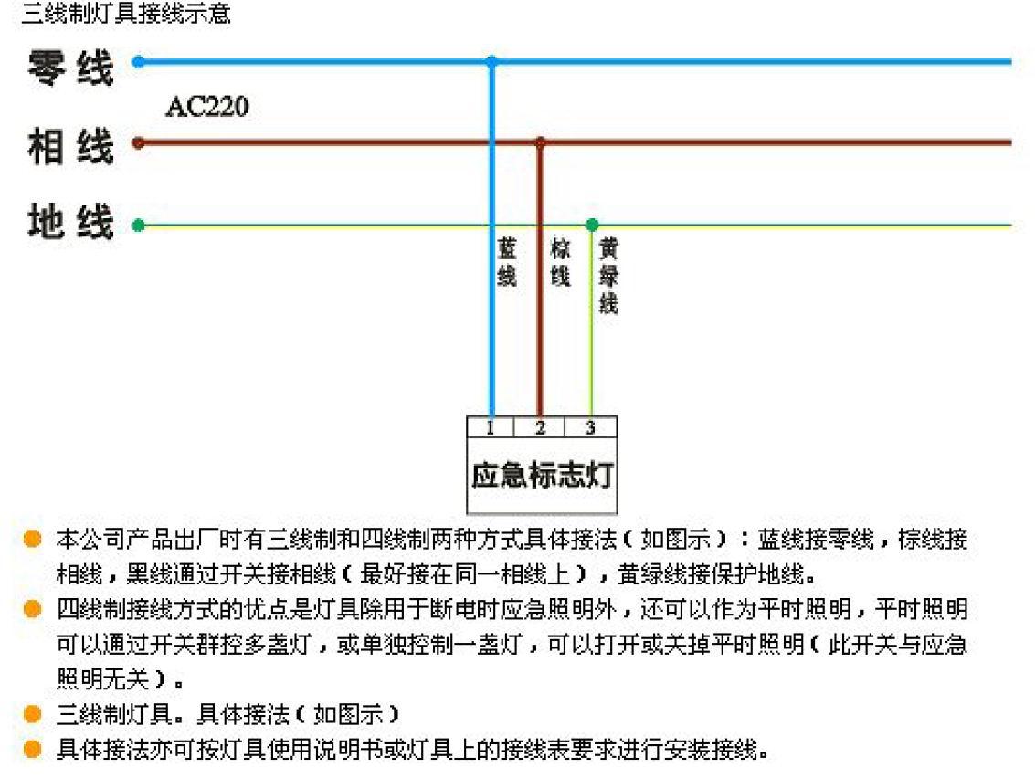 关于疏散指示灯的接线