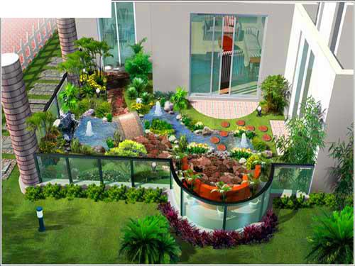 整理的一些屋顶花园效果图 实景图及平面图高清图片
