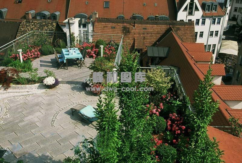 整理的一些屋顶花园效果图 实景图及平面图