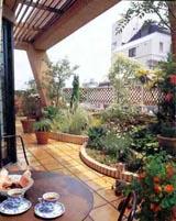 屋顶花园设计效果图,屋顶花园阳光房效果图,私人屋顶花园效