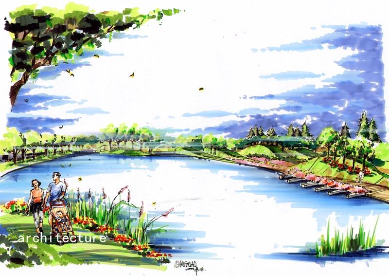 初学者马克笔手绘风景