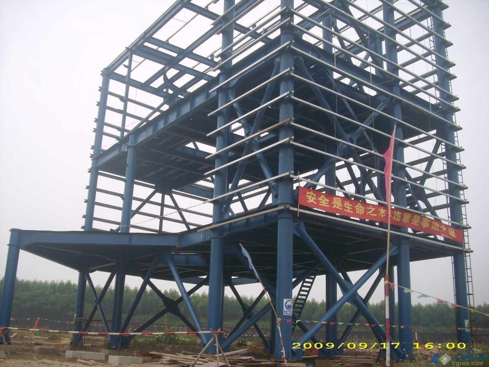 钢框架结构图片