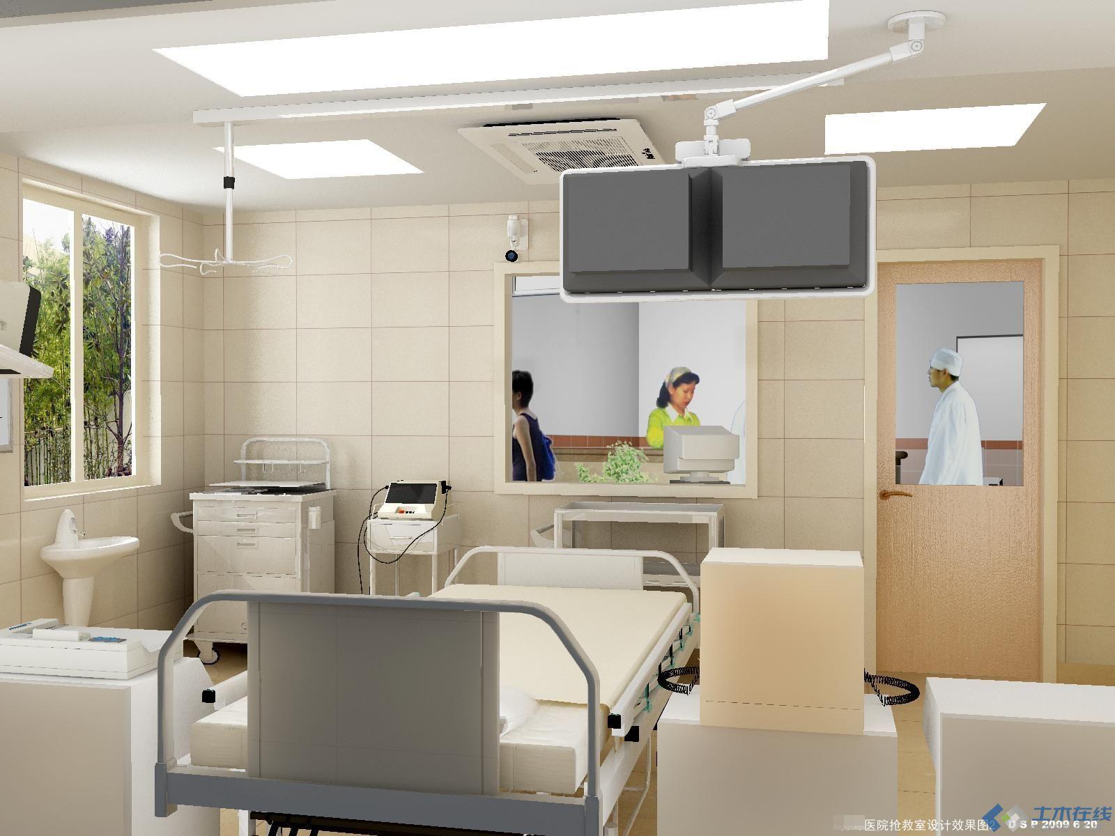医院抢救室设计效果图 土木在线论坛高清图片