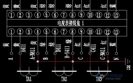三相四线联合接线盒接线问题