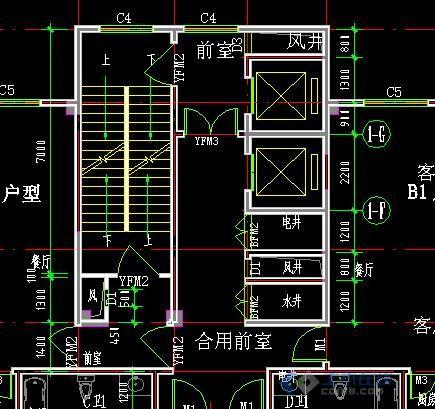 办公楼楼梯间设计图片