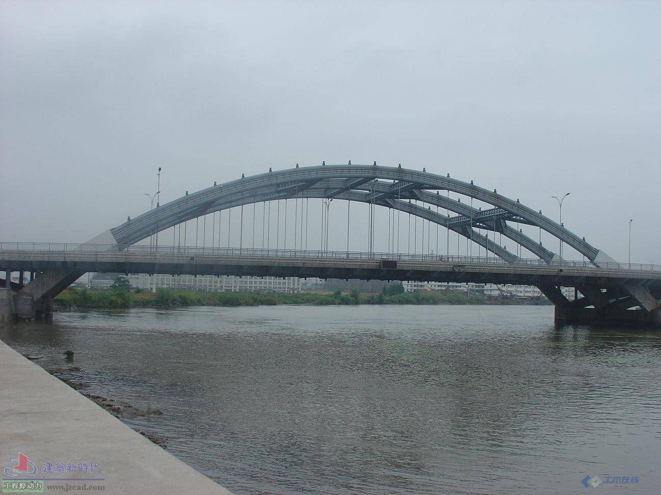 中承式钢管拱桥施工照片 宁波郢州桥
