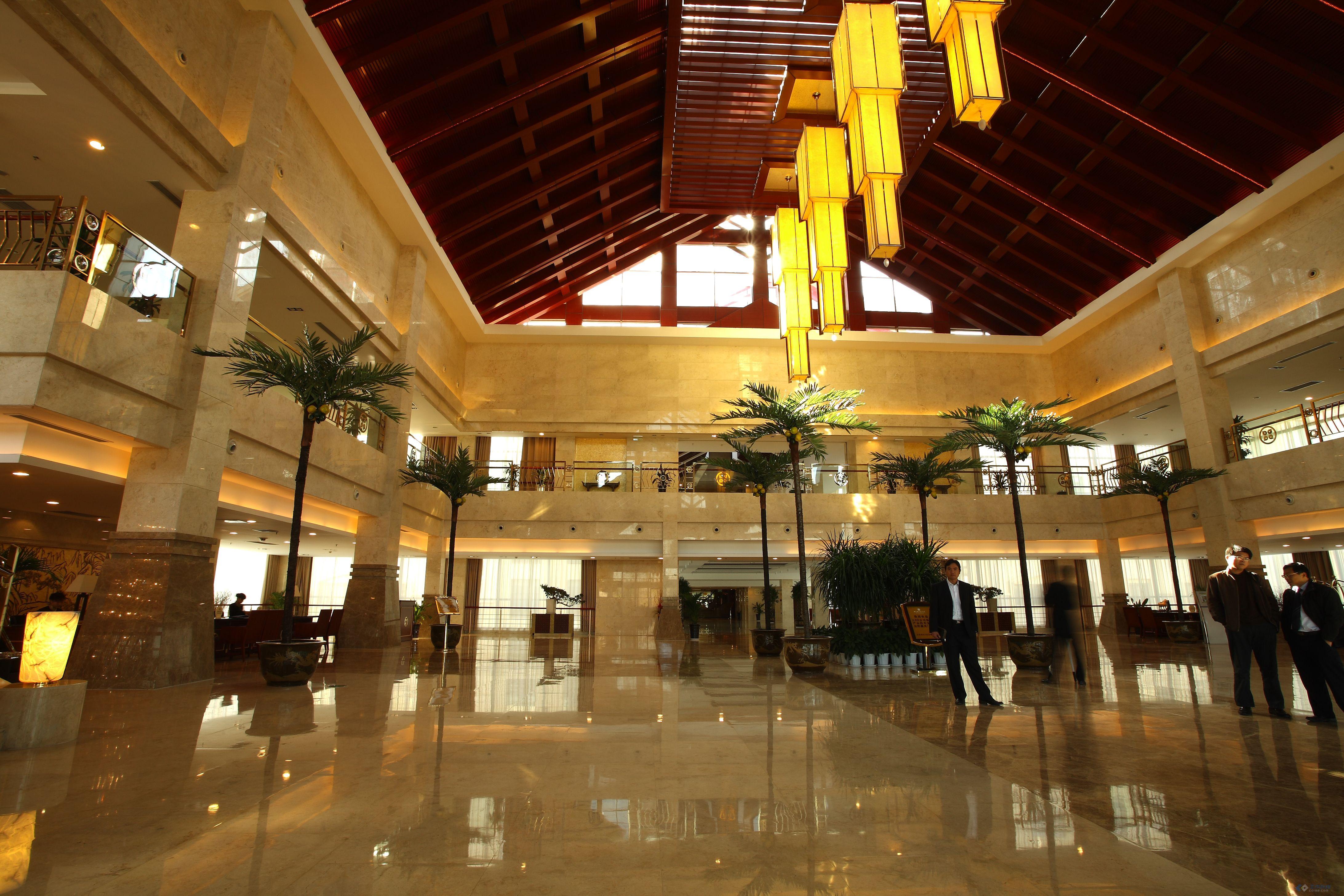 五星级酒店室内装修效果图,上海现代华盖设计院设计 土木在