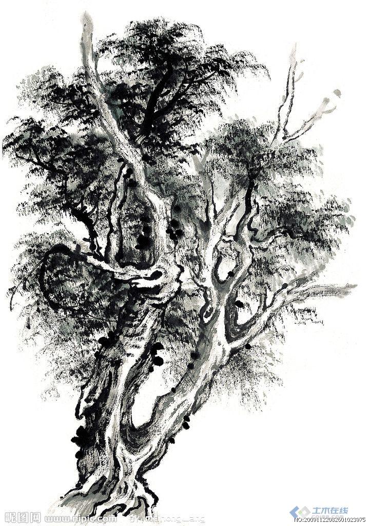 手绘树木的画法