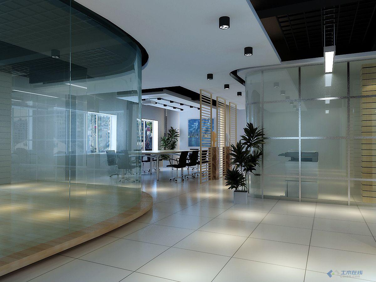 办公楼设计500平方,平面,天花,效果图