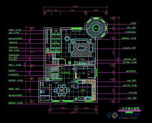昌正别墅设计平面,天花,立面,效果图,很详细