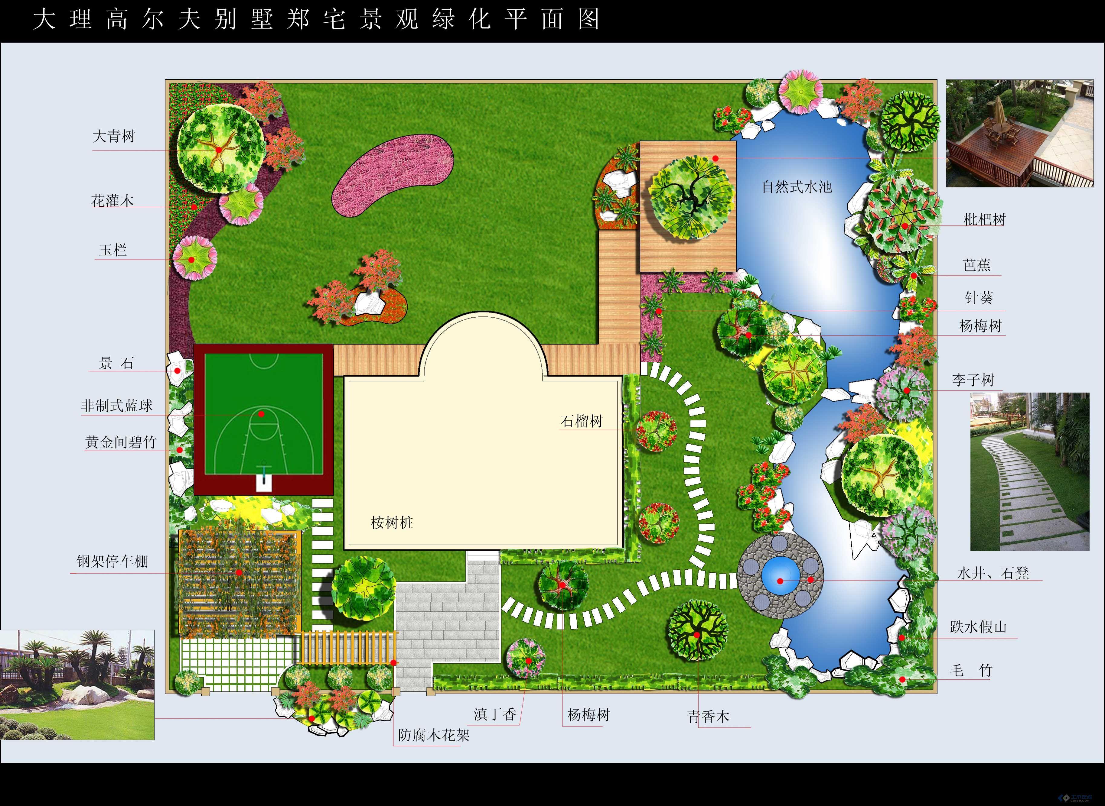 最近做的几张私家庭院景观平面图图片