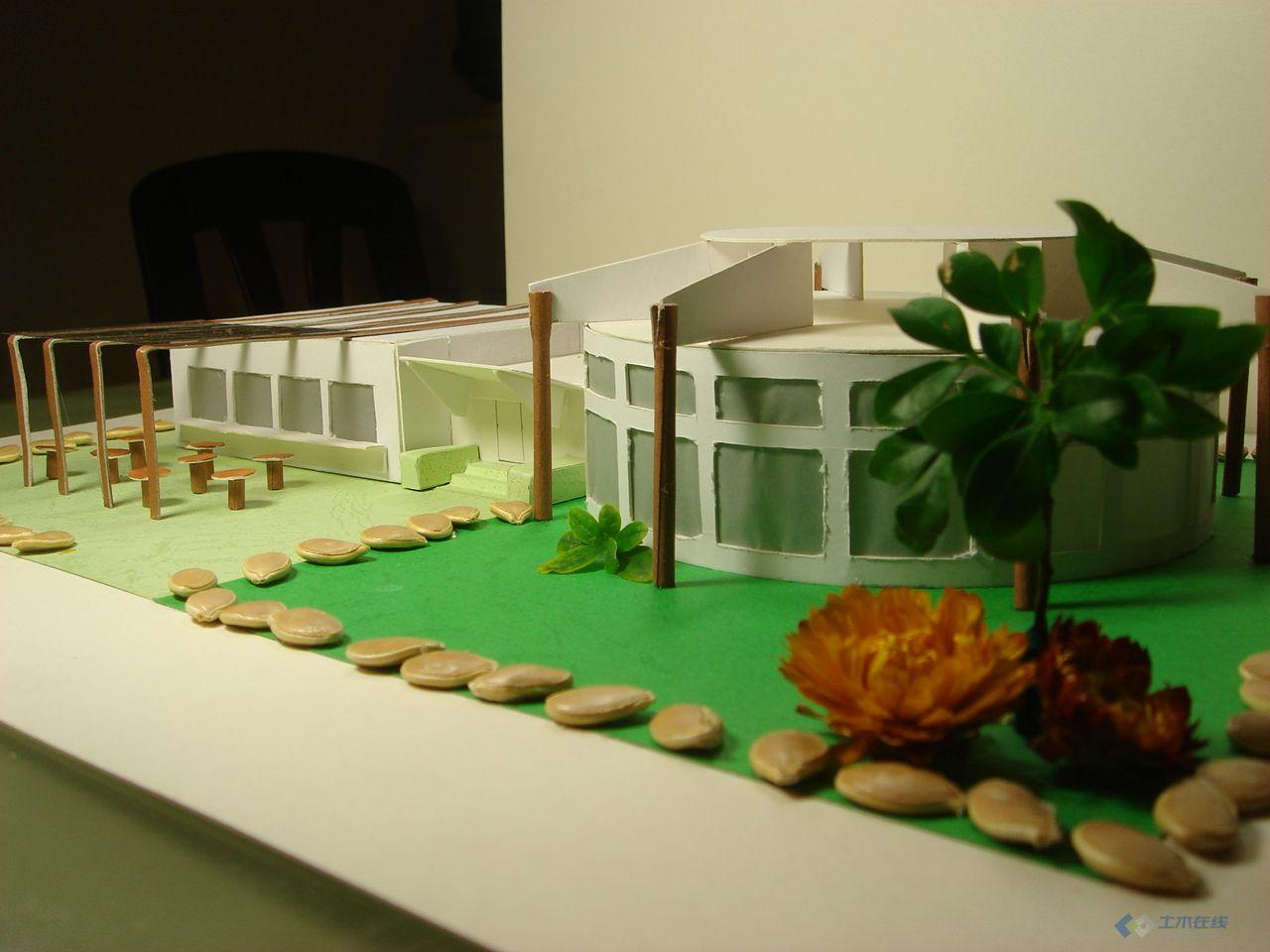 大二 茶室设计 手绘图纸 模型