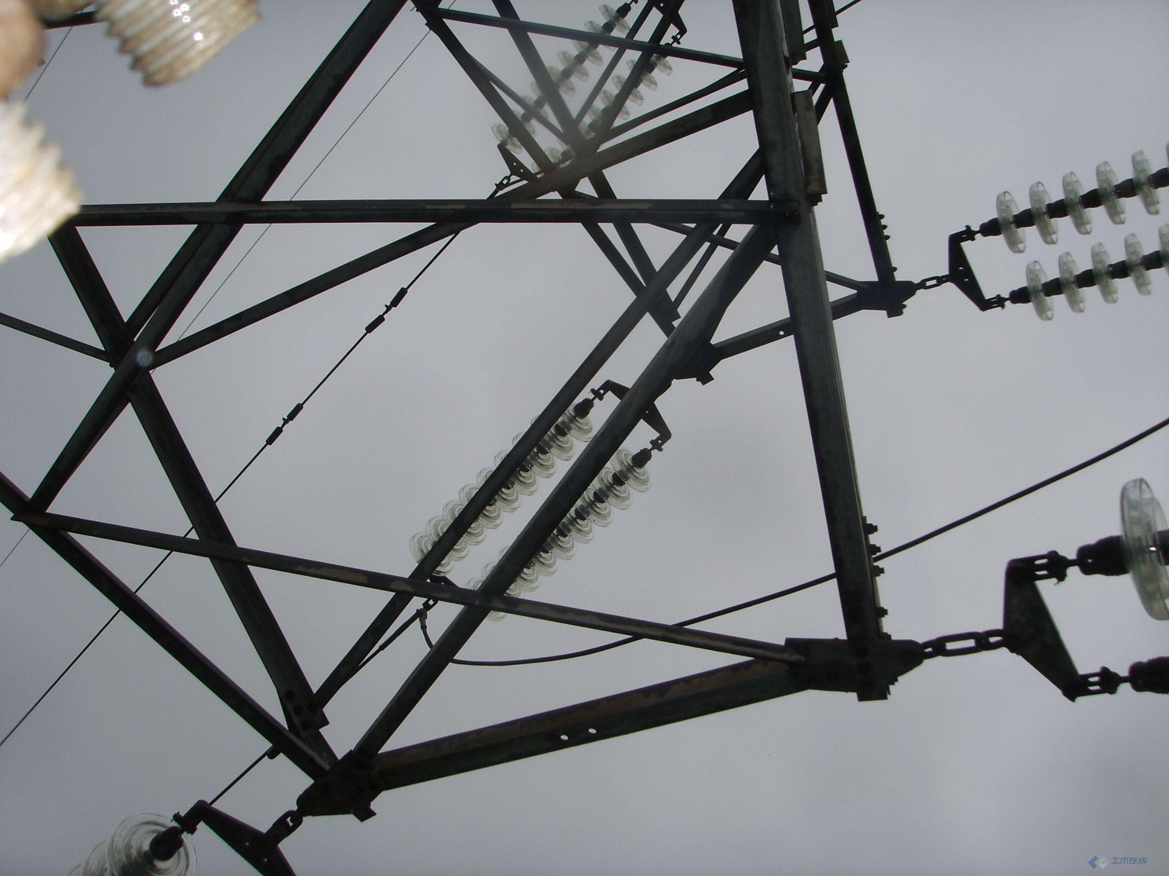 110kiv架空线的图片 高清图片