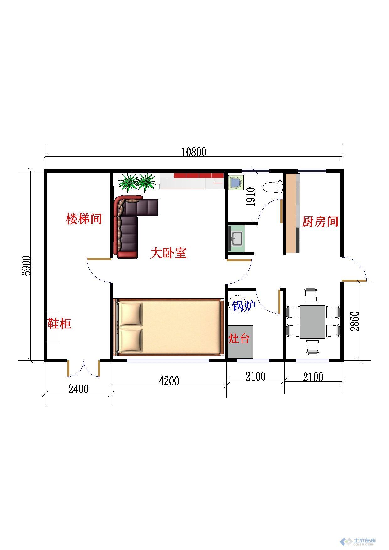 我设计的北方农村二层小楼,请高手指点高清图片