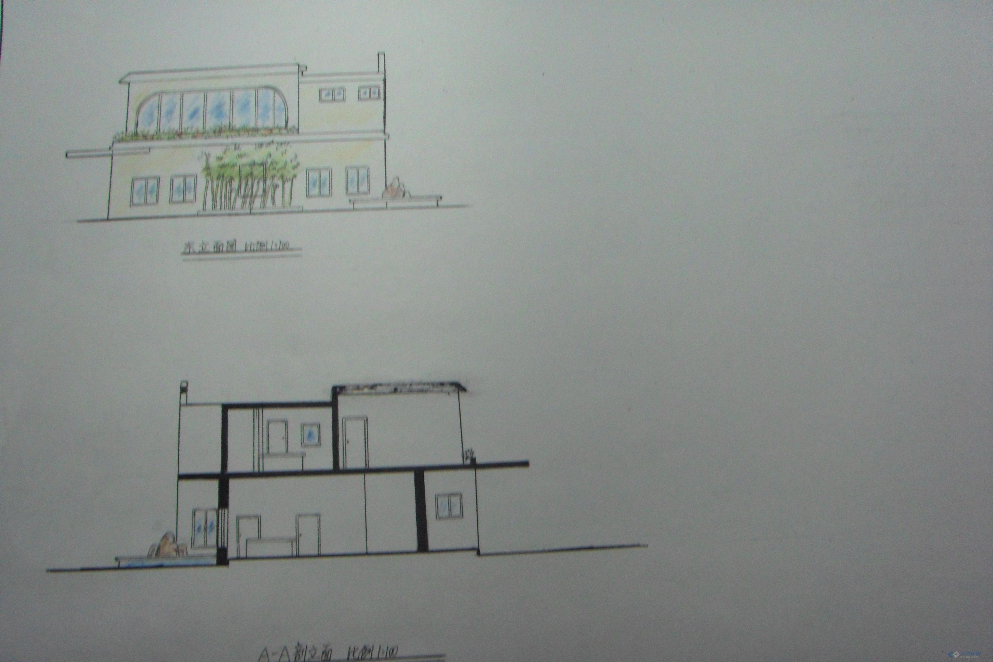 茶室的手绘设计图,求指教