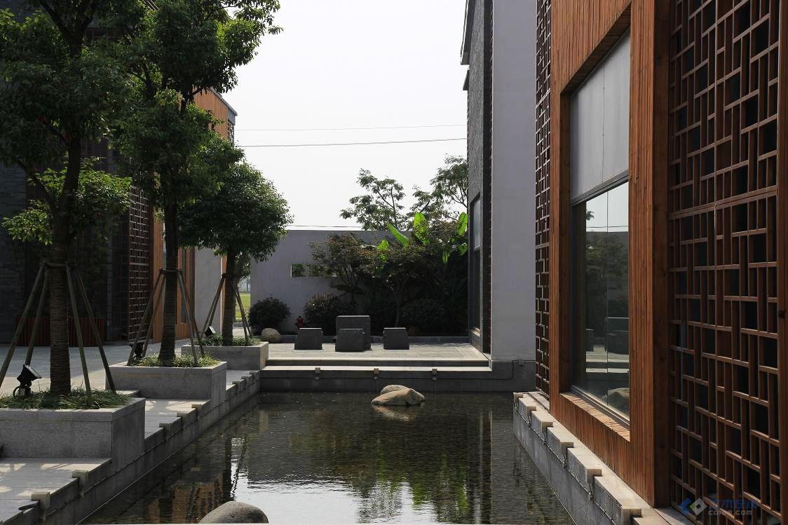 新中式商业街区景观图片