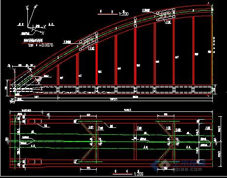 一份钢管砼拱桥的图纸