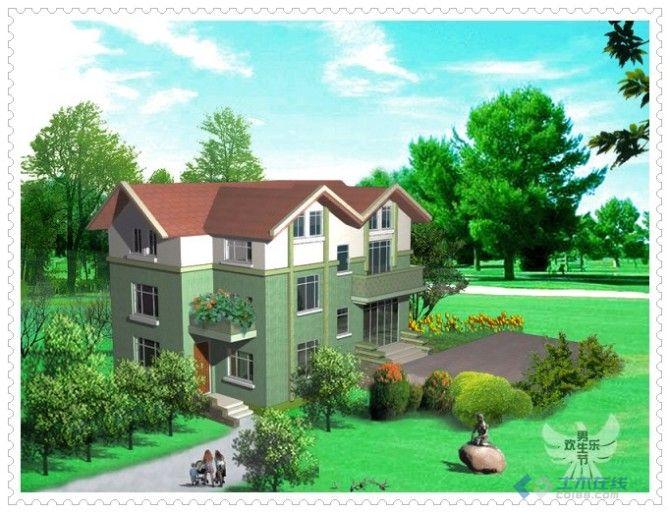 有斜面不规则地基农村小别墅设计图展示