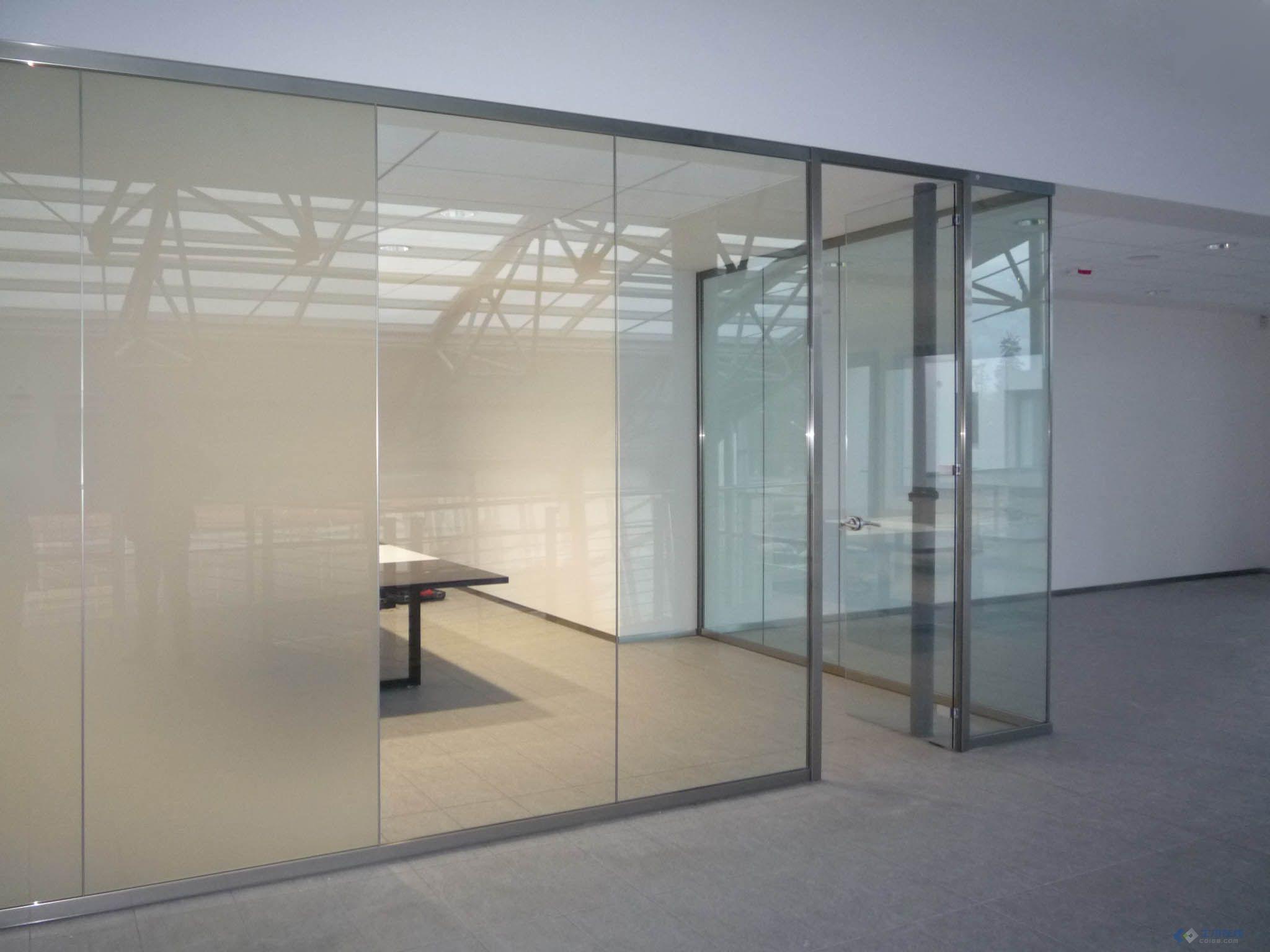 办公室玻璃隔断的效果图和实际拍摄图 土木在线论坛