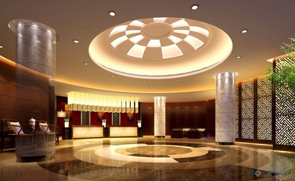 某宾馆一层大厅 咖啡厅装修设计全套图纸