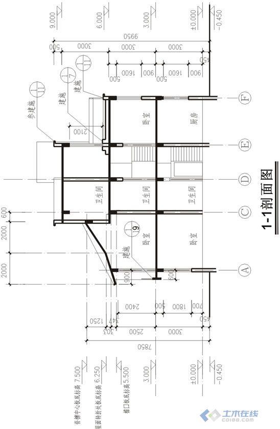 农村别墅施工图