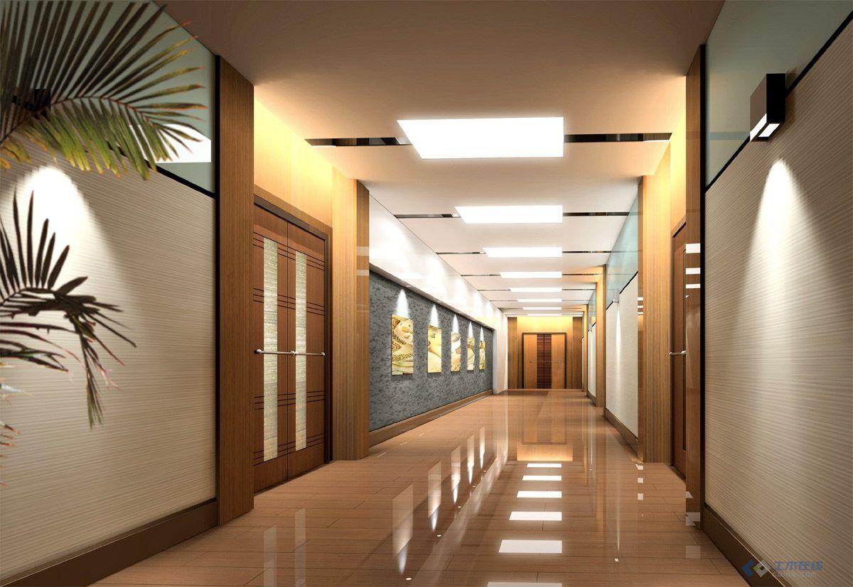 经典 公司办公楼室内装修效果图及施工图