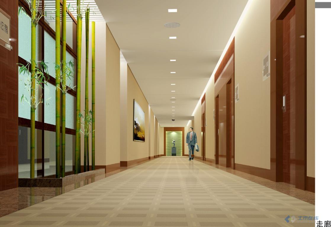 跨国大企业办公楼内部装修效果图 顶