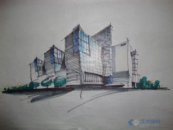 近期手绘练习,求建筑学快速表现材料