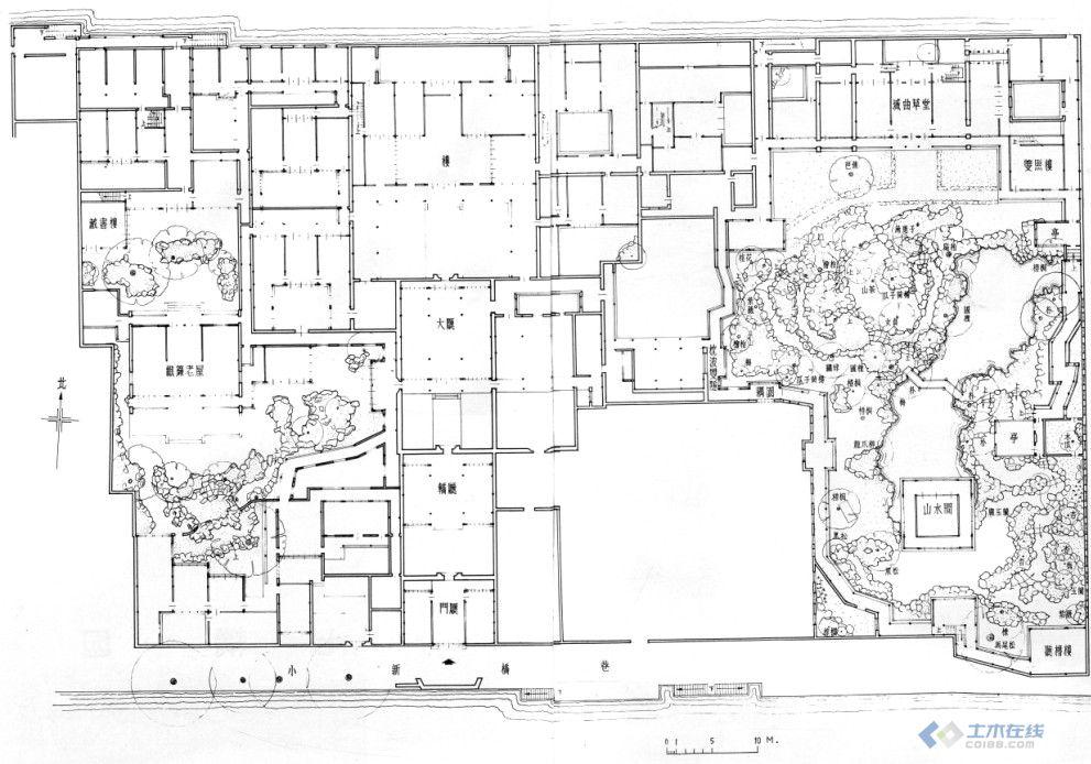 收藏 苏州古典园林平面图 土木在线论坛