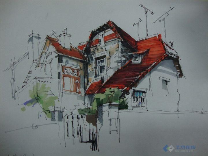 建筑学,最近手绘,大家很批