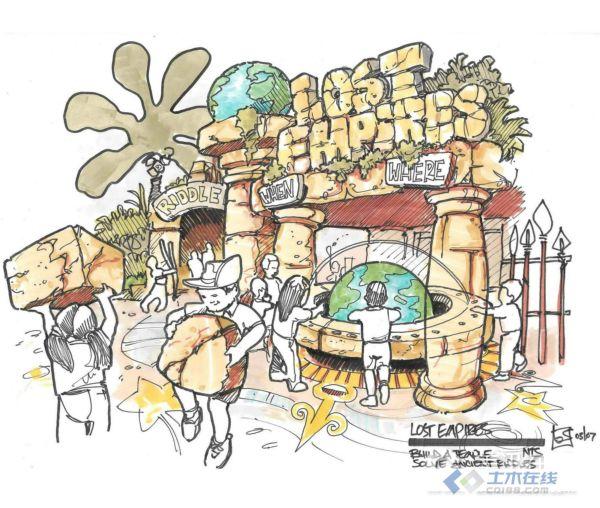 国内主题公园手绘创意设计(收集贴)