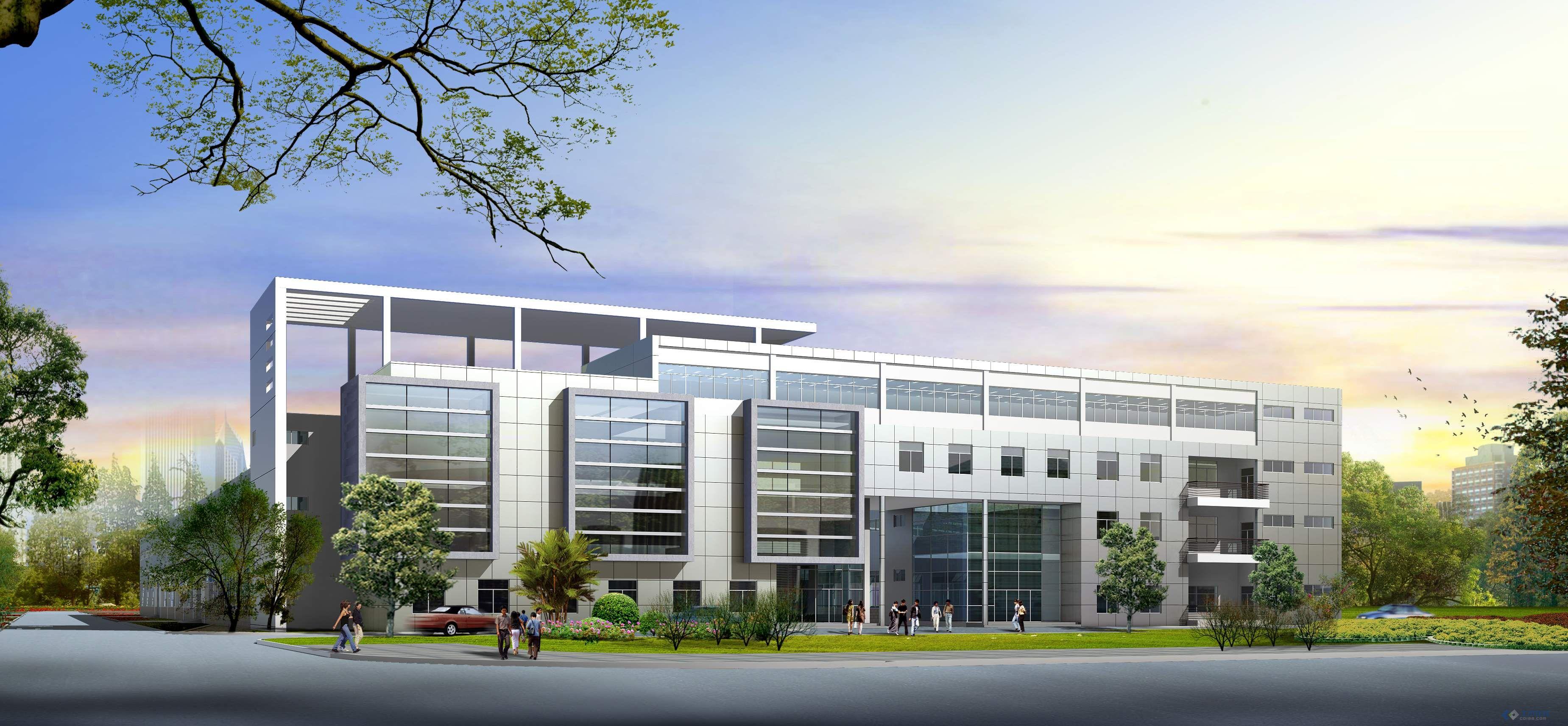 钢结构厂房 大门 车棚效果图