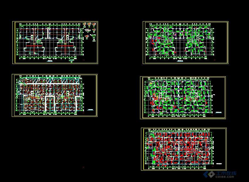 某高层住宅结构图 土木在线论坛 高清图片