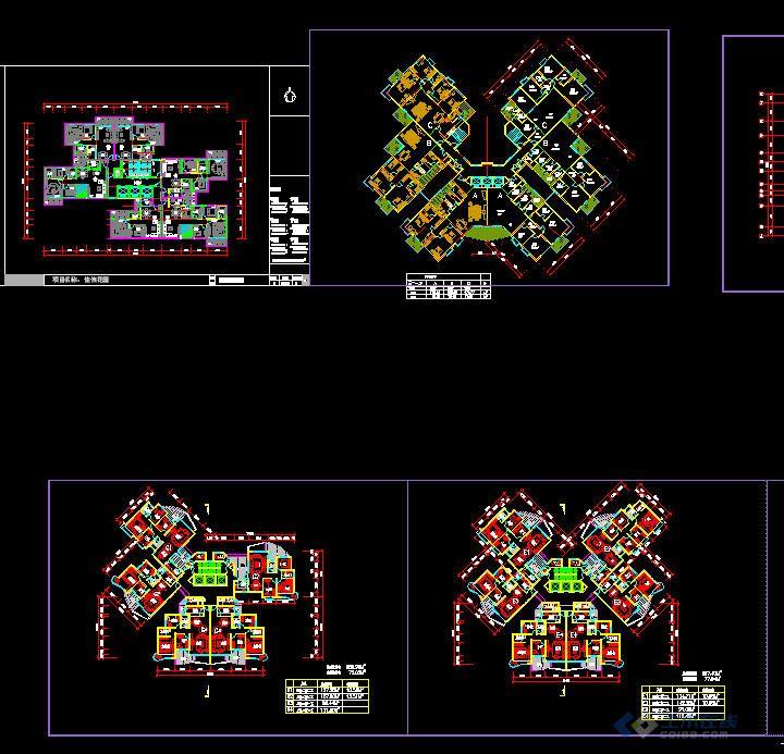 高层住宅户型 高清图片
