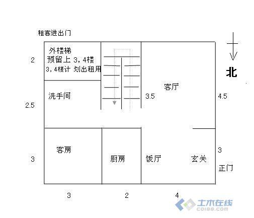5地皮,自己設計的農村自建房戶型圖,求大家指點