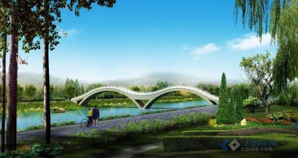 一座人行桥的几种方案效果图