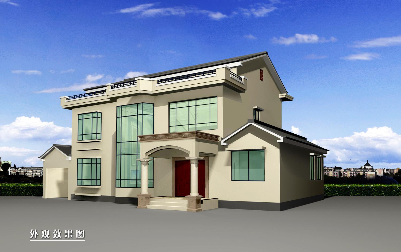 南方农村自建两层复式楼房,框架