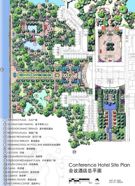 非常经典园林景观规划设计平面图