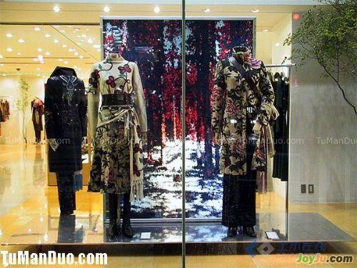 kenzo服装店橱窗设计展示服装店效果图