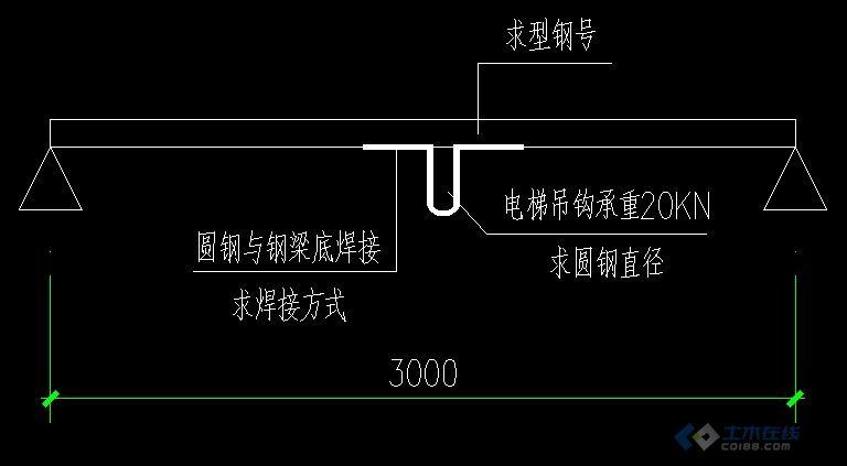 请教3t货梯的吊钩与钢梁做法-土木在线论坛