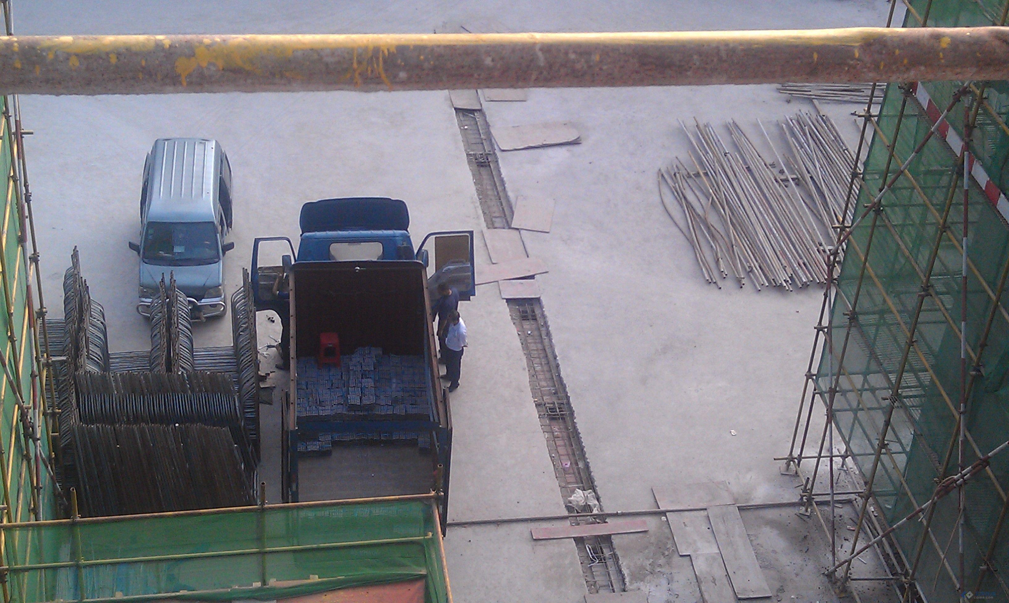 后浇带浇筑前车辆随意碾压