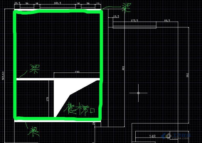 如图所示:我是房子是标准户型南北通透的,是6楼带个一样面