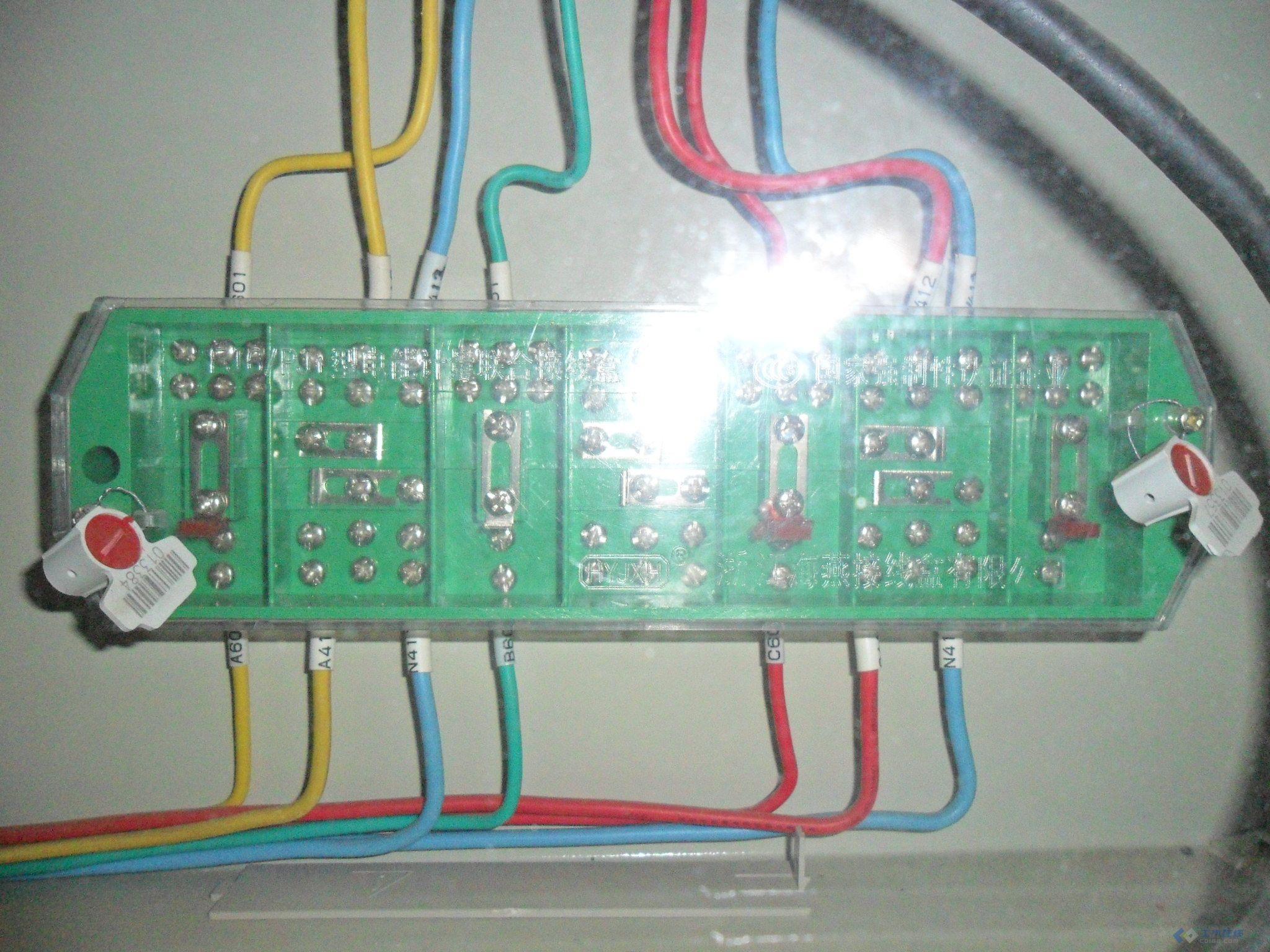 【求解】低压计量柜里的电度表接线盒连接方法